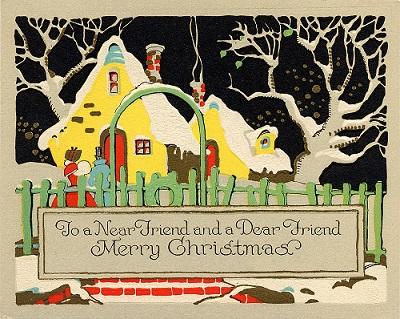 Vintage Christmas card/Allen/flickr