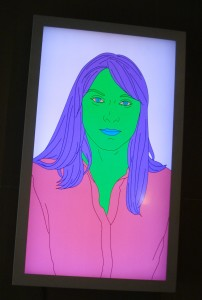 Digital Portrait by Michael Craig-Martin/Sandra Levy